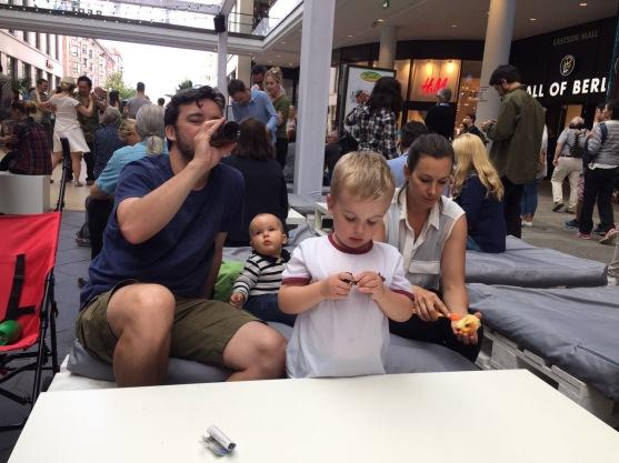 Recuperando energias no Mall of Berlin